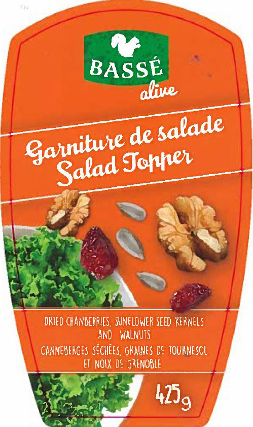 Bassé Alive - Salad Topper – Dried cranberries, sunflower seed kernels and walnuts - 425 gram