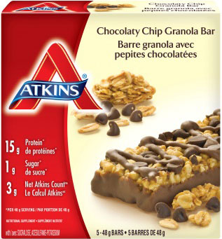 Chocolaty Chip Granola Bar - 240 grams (5 x 48 grams bars)