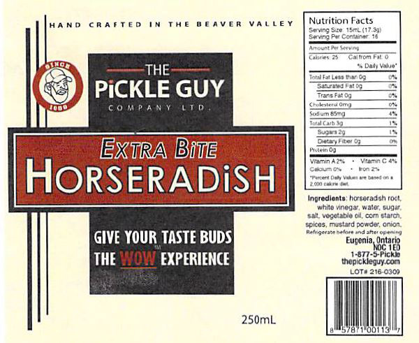 The Pickle Guy Company Limited: Extra Bite Horseradish - 250 millitre