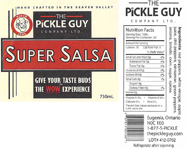 The Pickle Guy Company Limited: Super Salsa - 750 millitre