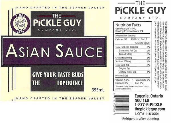 The Pickle Guy Company Limited: Asian Sauce - 355 millitre