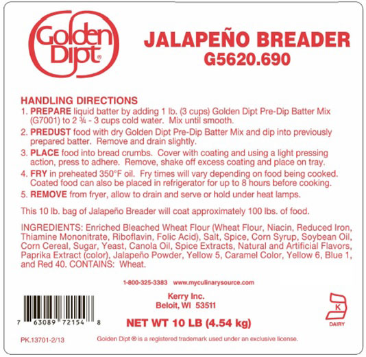 Golden Dipt - Jalapeño Breader