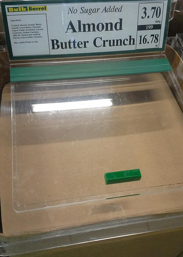 No Sugar Added Almond Butter Crunch
