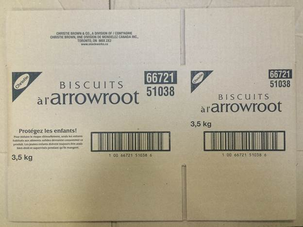 Arrowroot Biscuits 3.5 kilograms