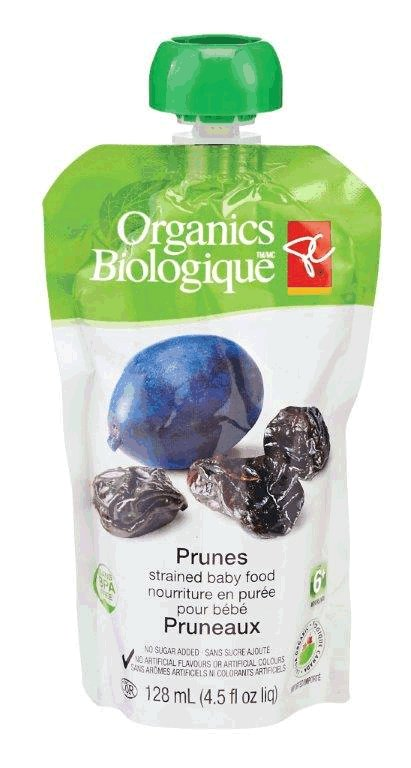 Prunes - strained baby food