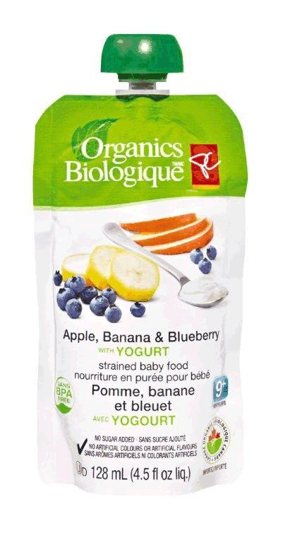 Apple, Banana & Blueberry with Yogurt - strained baby food