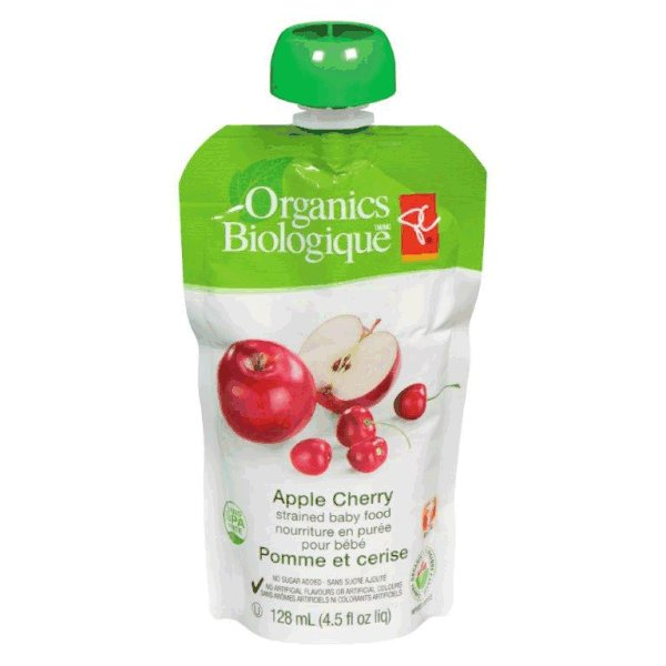Apple Cherry - strained baby food
