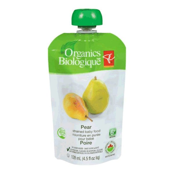 Pear - strained baby food