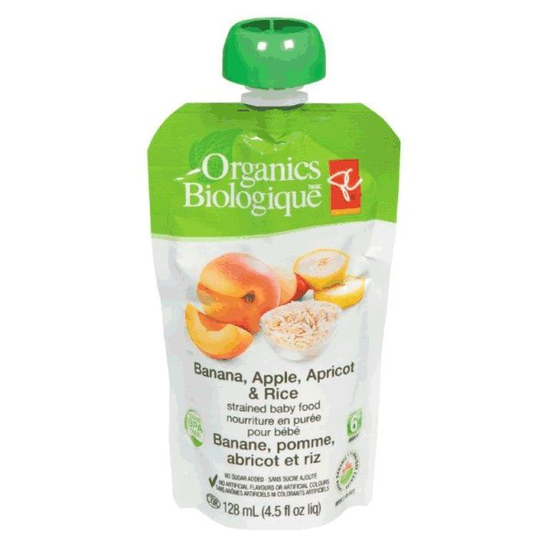 Banana, Apple, Apricot & Rice - strained baby food