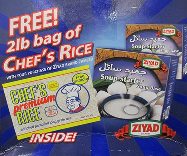Ziyad & Chef's - Soup Starter Soup Base Jameed & Premium Rice - 1.91 kilogram