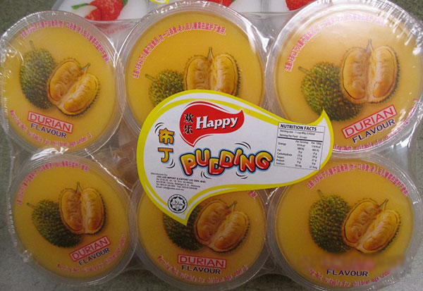 Happy - « Pudding de durian » - 110 gramme x 6