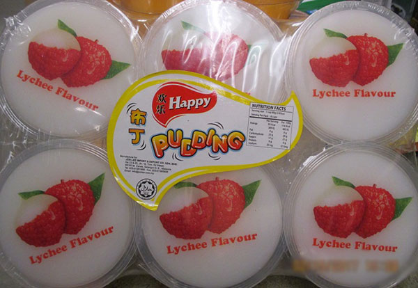 Happy - Lychee Pudding - 110 gram x 6