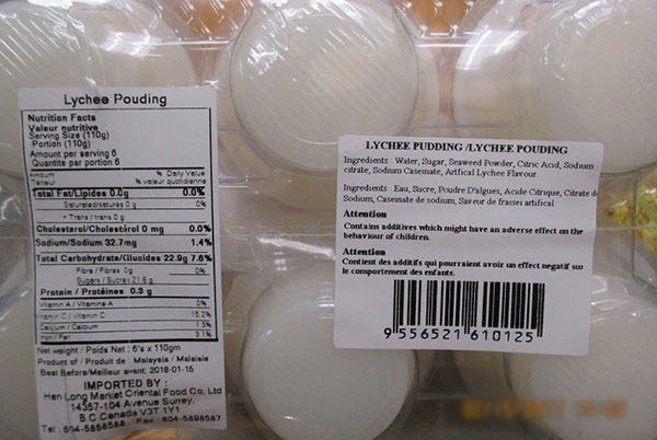 Happy - Lychee Pudding - 110 gram x 6 - back