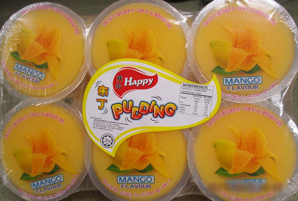Happy - Mango Pudding - 110 gram x 6
