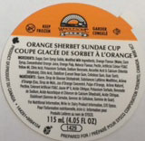 Wholesome Farms - Orange Sherbet Sundae Cup - 115 millilitre