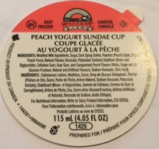 Wholesome Farms - Peach Yogurt Sundae Cup - 115 millilitre