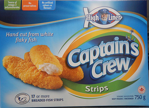High Liner Captain's Crew - Breaded Fish Strips - 750 grams