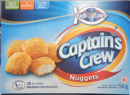 High Liner Captain's Crew - Breaded Fish Nuggets - 750 grams