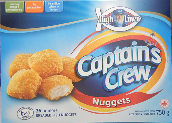 High Liner Captain's Crew - Breaded Fish Nuggets (Retail distribution)