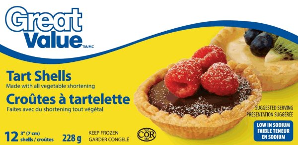 Great Value - Tart Shells - 228 grams