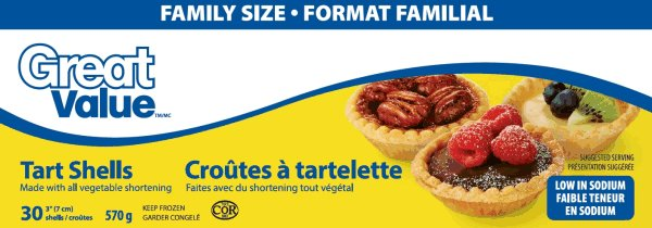 Great Value - Croûtes à tartelette - 570 grammes