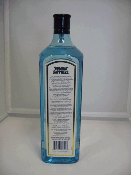 Bombay Sapphire - London Dry Gin - back