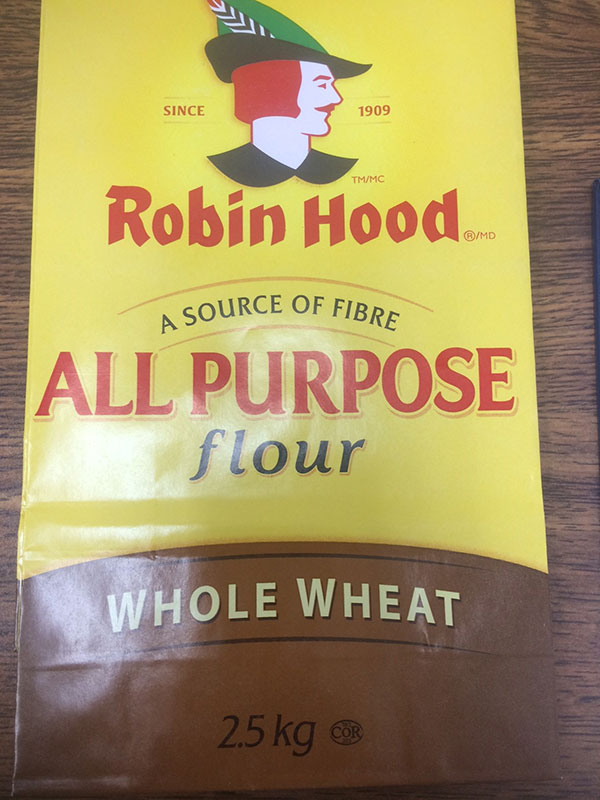 Robin Hood brand Whole Wheat Flour 2.5 kilograms