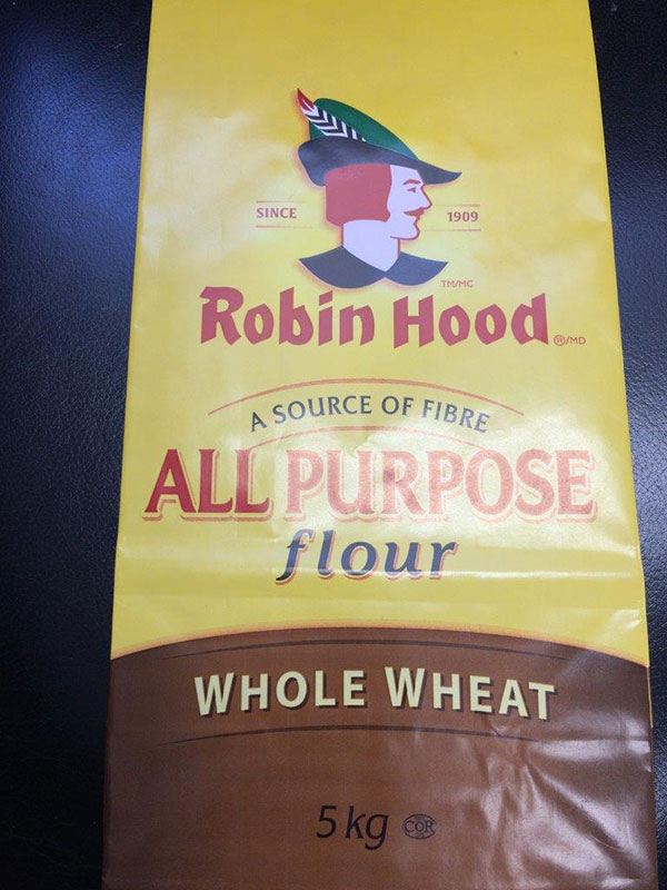 Robin Hood brand Whole Wheat Flour 5 kilograms