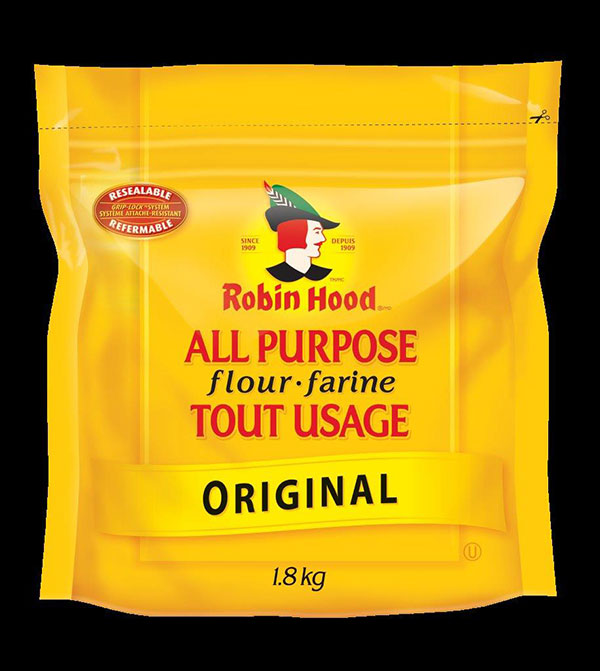 Robin Hood brand All Purpose Flour Original 1.8 kilograms