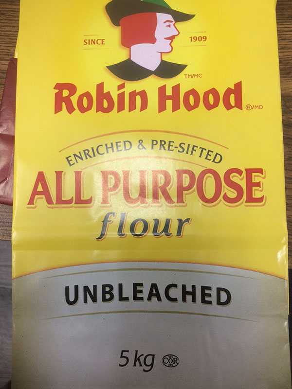 Robin Hood brand All Purpose Flour Unbleached 5 kilograms
