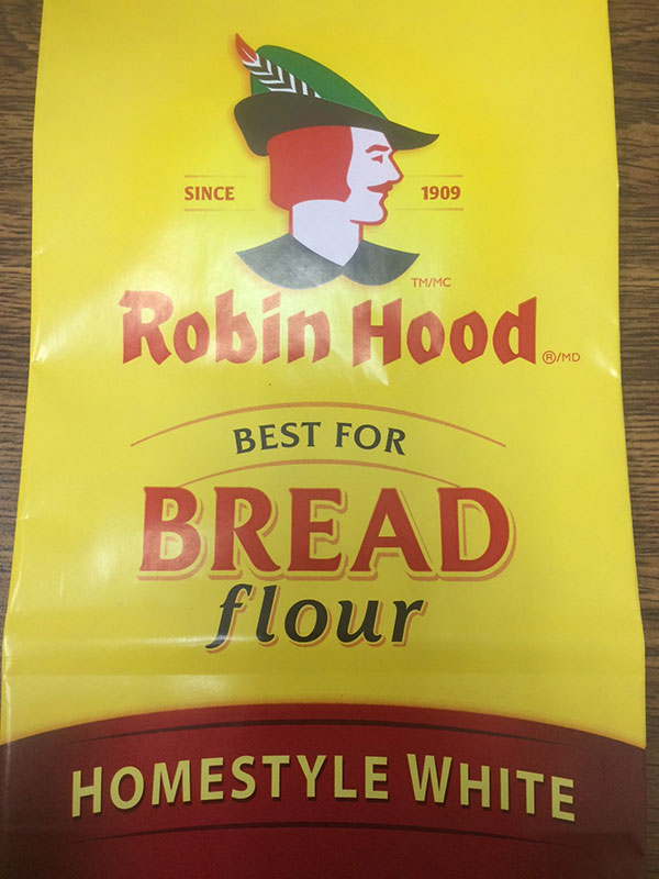 Robin Hood brand Best for Bread Flour Homestyle White 5 kilograms