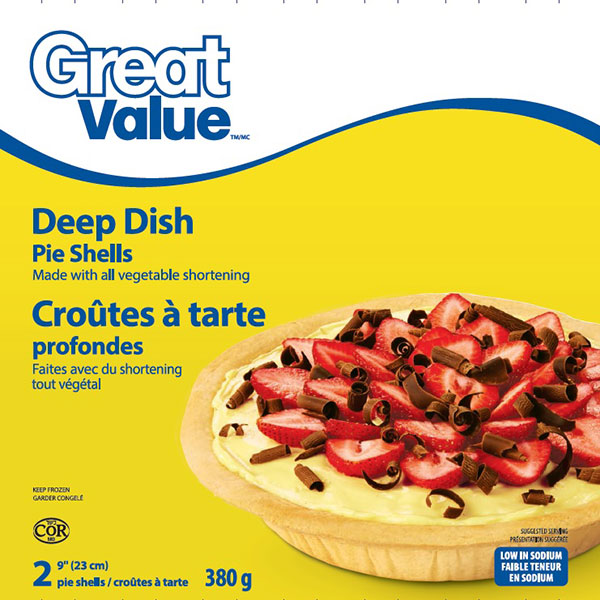 Great Value - Croûtes à tarte profondes