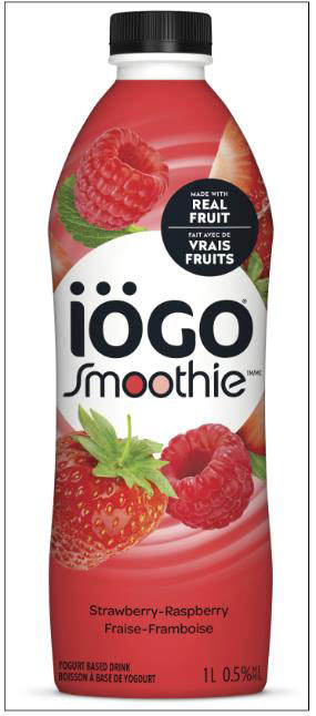 iögo Smoothie Strawberry-Raspberry Yogurt Based Drink