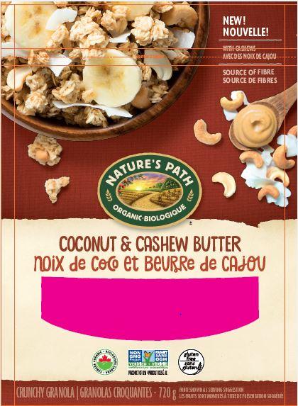 Nature's Path brand Coconut & Cashew Butter Crunchy Granola
