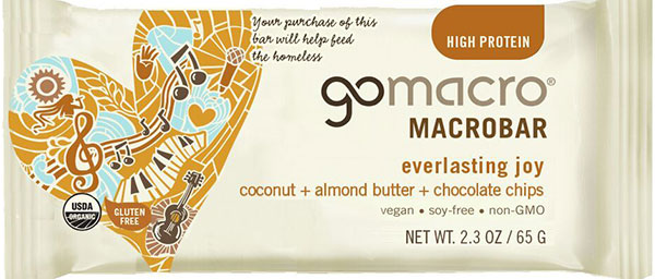 GoMacro - « everlasting joy coconut + almond butter + chocolate chips Macrobar »