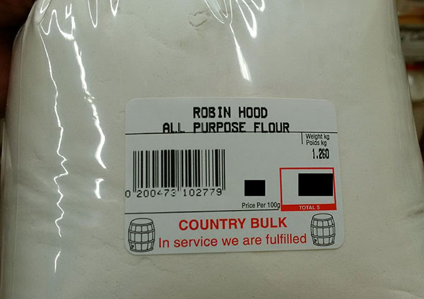 Country Bulk - « Robin Hood All Purpose Flour »