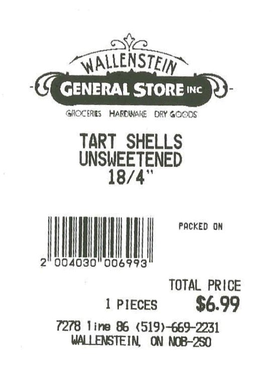 Wallenstein General Store Inc. - 4 inch unsweetened tart shells