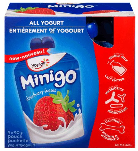 Yoplait Minigo - Strawberry Yogurt