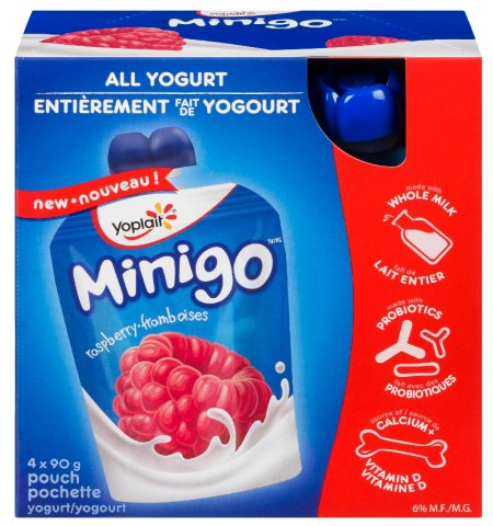 Yoplait Minigo - Raspberry Yogurt