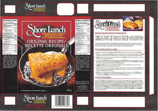 Shore Lunch - Fish Breading/Batter Mix – Original Recipe - 255 gram