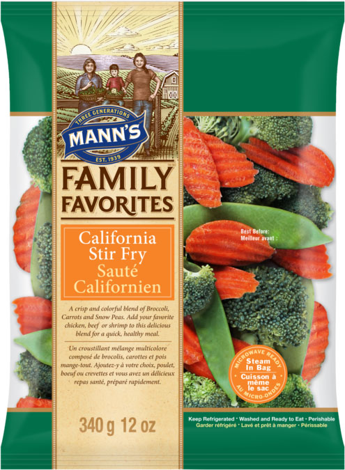 Mann's Family Favorites Sauté Californien