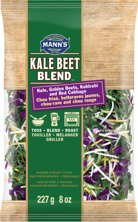 Mann's - « Kale Beet Blend - Chou frisé, betteraves jaunes, chou-rave and chou rouge »