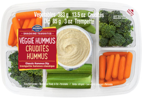 Mann's Snacking Favorites - Crudités Hummus