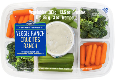 Mann's Snacking Favorites - Crudités Ranch