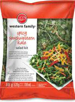 Western Family - « Spicy Southwestern Kale Salad Kit »