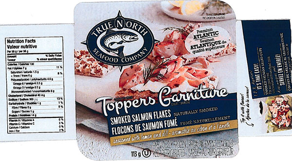 True North Seafood Company - Toppers Smoked Salmon Flakes seasoned with lemon and dill