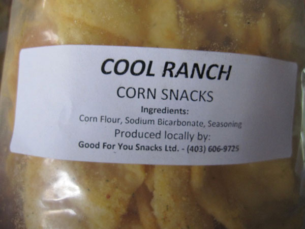 « Cool Ranch Corn Snacks » - Format Non déclaré
