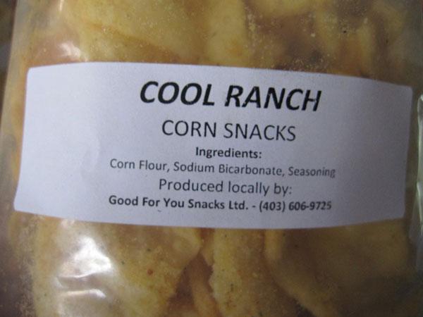 « Cool Ranch Corn Snacks » - Format Non déclaré