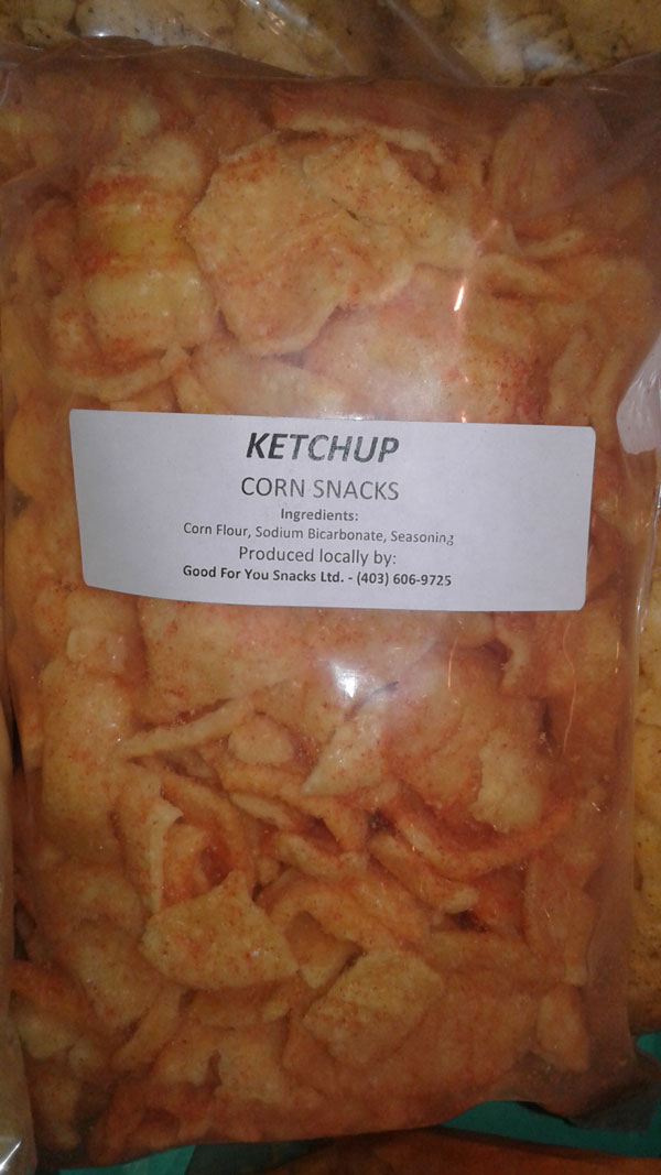 Ketchup Corn Snacks - Size Not declared