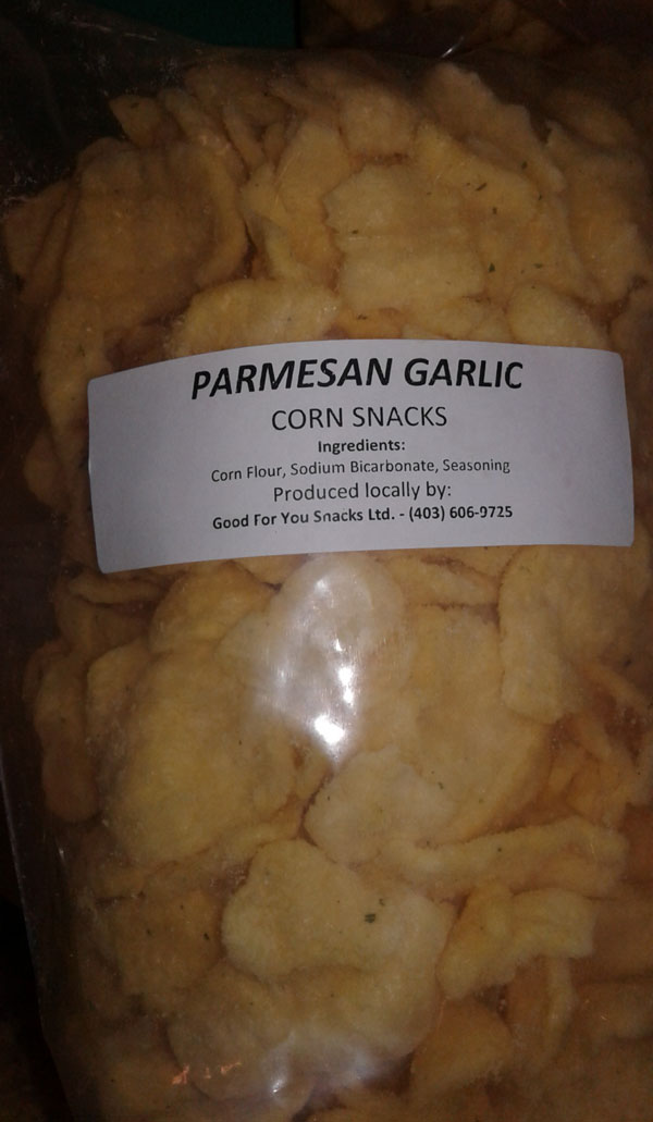 Parmesan Garlic Corn Snacks - Size Not declared